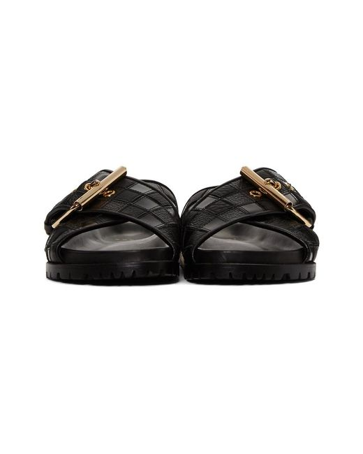 Sacai Black Patchwork Straps Sandals wN6zRfgw