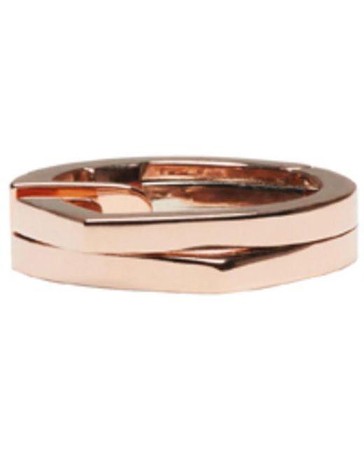 Repossi | Metallic Rose Gold 2 Rows Antifer Ear Cuff | Lyst