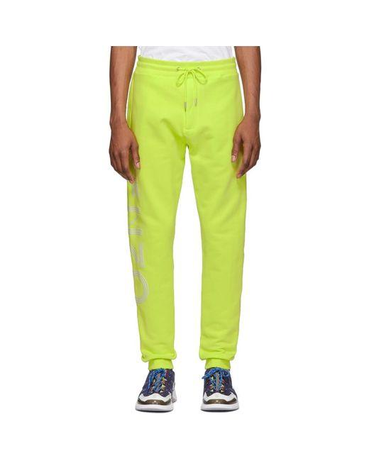 KENZO - Yellow イエロー ロゴ ラウンジ パンツ for Men - Lyst