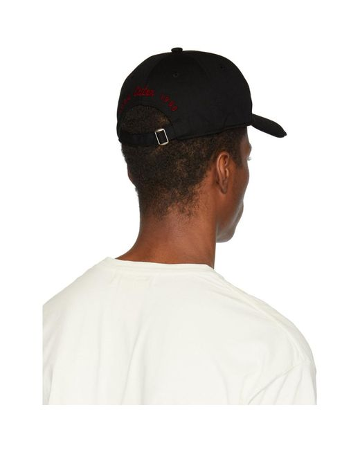 Dsquared² Black Logo Patch Cap in Black for Men - Lyst 15553c6b405f