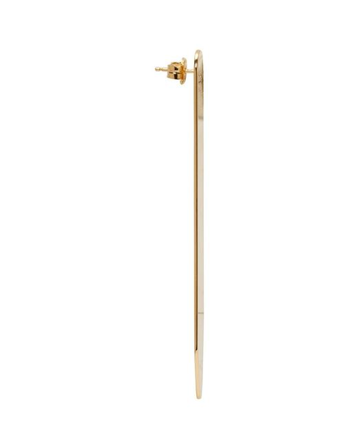 Gold Shirt Collar Tips Bar Earrings Maison Martin Margiela lGUOfFfaV