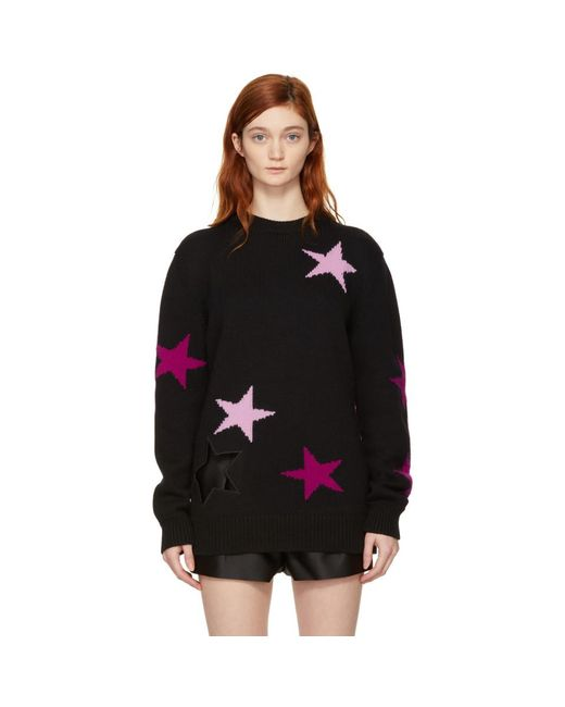 Givenchy - Black Oversized Stars Sweater - Lyst