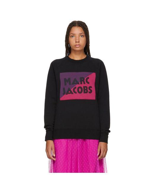 Marc Jacobs - Black Raglan Logo Sweatshirt - Lyst