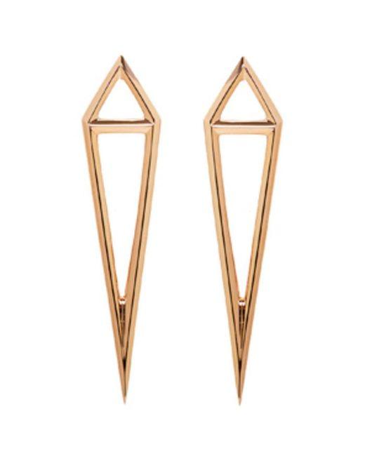 Eva Fehren | Black Rose Gold Dagger Stud Earrings | Lyst