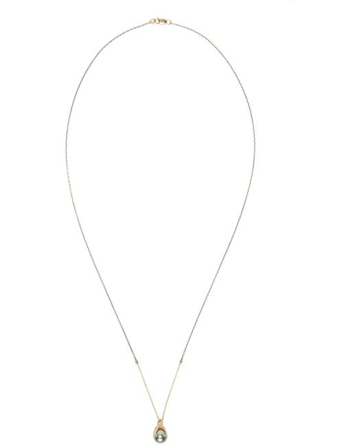Pearls Before Swine   Metallic Silver & Gold Clutching Pearl Necklace   Lyst