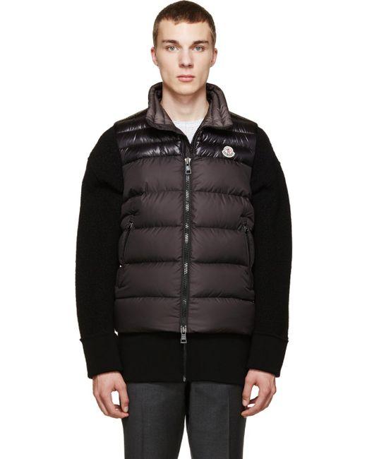 Moncler | Black Down Dubres Vest for Men | Lyst