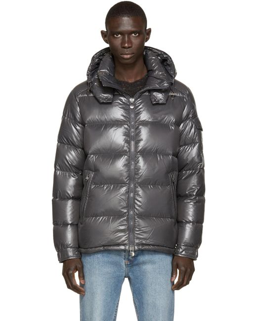 Moncler | Gray Quilted Down Maya Jacket for Men | Lyst