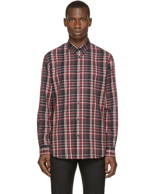 DSquared² | Red & Grey Flannel Check Shirt for Men | Lyst