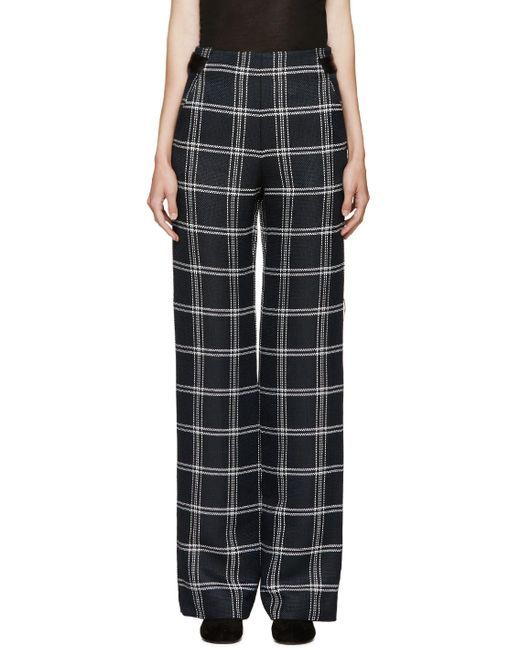 Proenza Schouler | Blue Navy & White Plaid Pants | Lyst