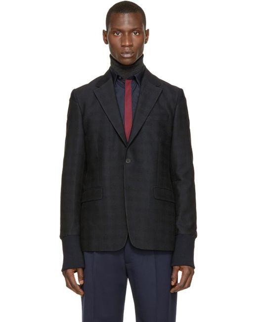 KENZO | Blue Navy Ribbed Cuffs Blazer for Men | Lyst