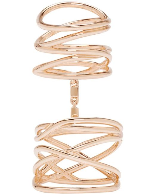 Repossi | Metallic Rose Gold Twin Ring | Lyst