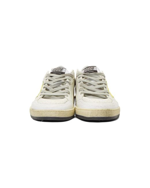 b33a012d7e43d ... Golden Goose Deluxe Brand - White And Yellow Ball Star Sneakers for Men  - Lyst ...