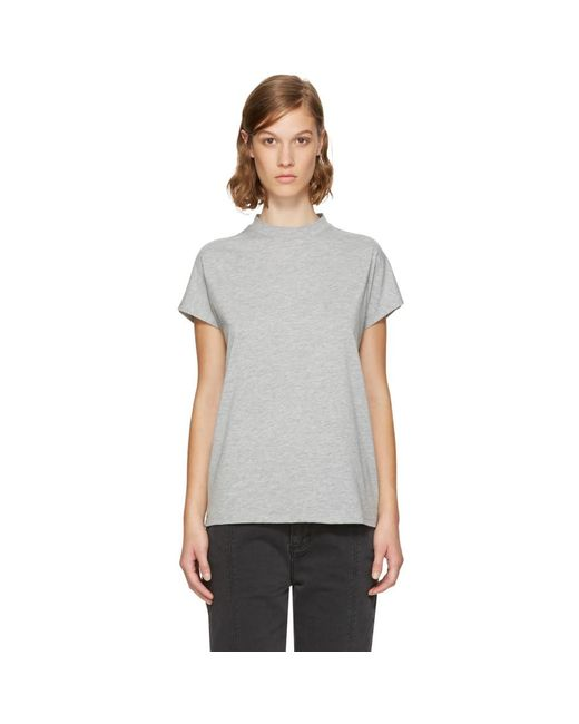 Won Hundred - Gray Grey Proof High Neck T-shirt - Lyst