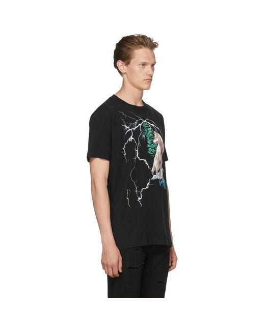 ... Marcelo Burlon - Black T-shirt noir Wolf Lightning for Men - Lyst ... daeba0305895