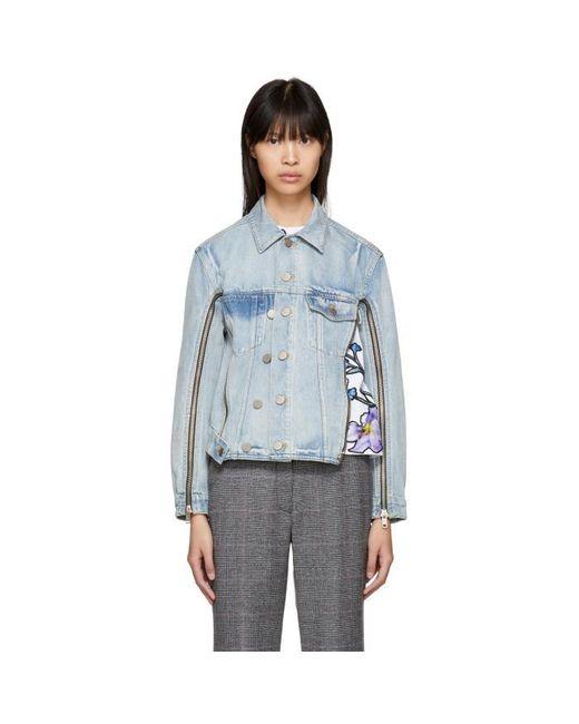 3.1 Phillip Lim   Blue Indigo Denim Jacket   Lyst