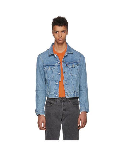 Vetements - Blue Levis Edition Cut-up Denim Jacket for Men - Lyst