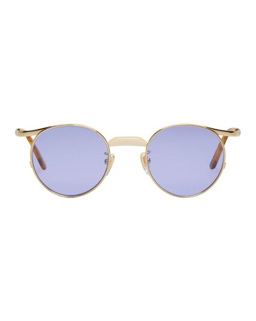 c92240db25c6 Gucci - Multicolor Gold Endura Round Sunglasses for Men - Lyst ...