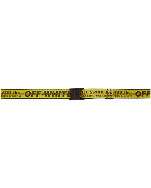 Ceinture jaune et noire Mini Industrial Off-White c/o Virgil Abloh en coloris Yellow