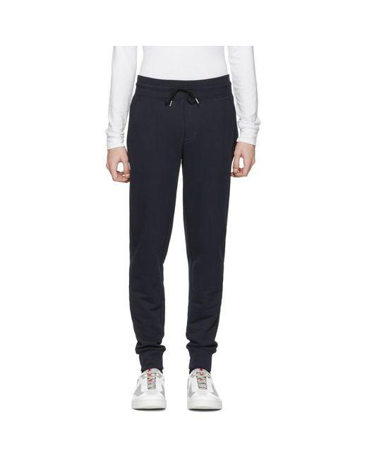 Moncler - Blue Navy Lounge Pants for Men - Lyst