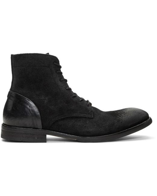H by Hudson | Black Suede Yoakley Boots for Men | Lyst