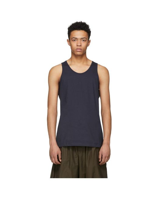 Comme des Garçons - Blue Navy Basic Tank Top for Men - Lyst
