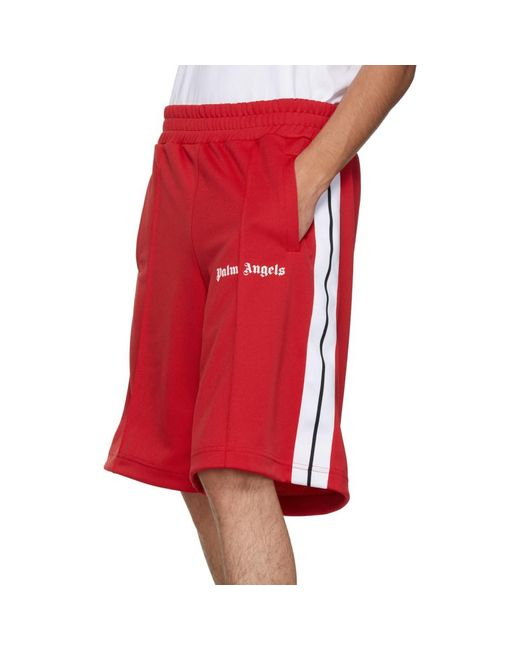 fb5b73e3aa0ae ... Palm Angels - Red Track Shorts for Men - Lyst ...