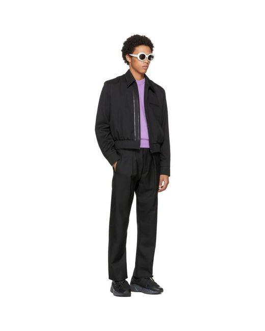 Acne Purple Nander V-neck Sweater in Purple for Men   Lyst