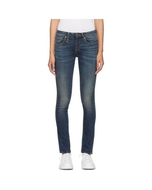 R13 | Blue Kate Skinny Jeans | Lyst