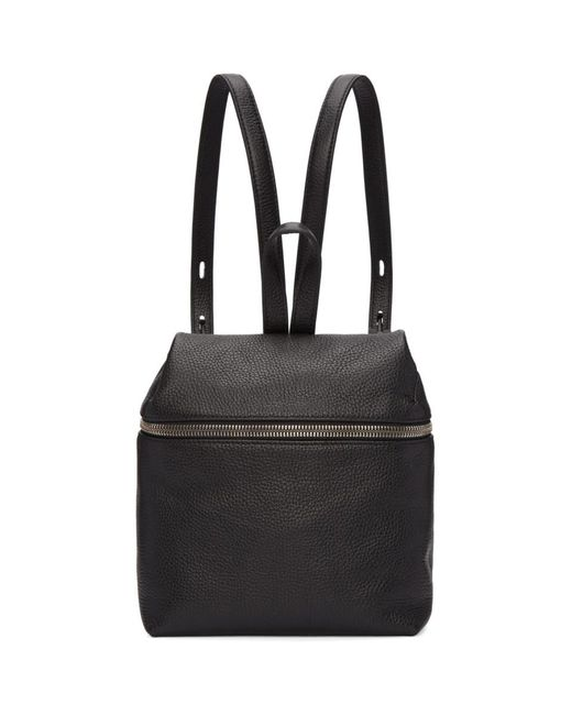Kara - Black Small Leather Backpack - Lyst