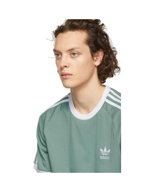 31556ab11 ... Adidas Originals - Green 3-stripes T-shirt for Men - Lyst ...