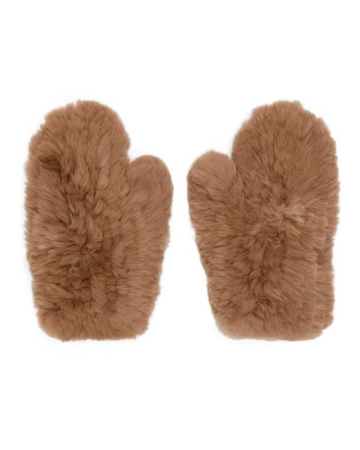 Yves Salomon - Natural Beige Fur Handwarmer Gloves - Lyst