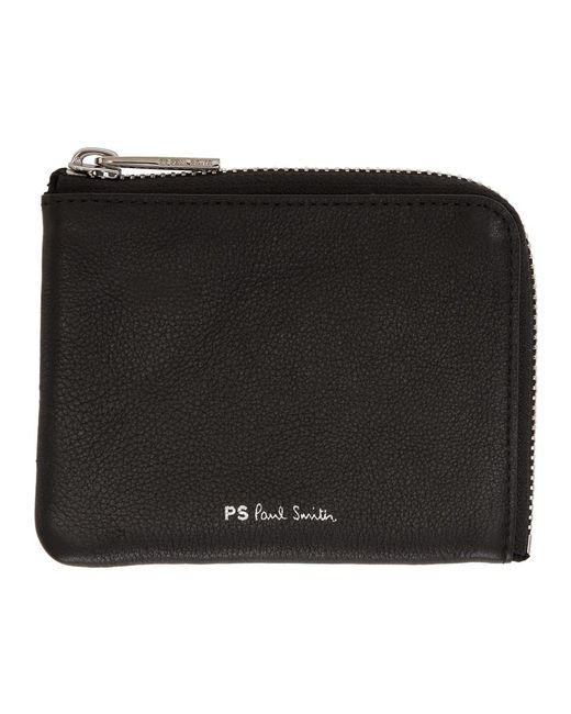 PS by Paul Smith - Black Leather Zip Wallet for Men - Lyst