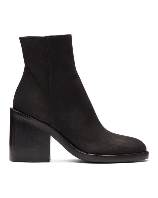 Ann Demeulemeester - Ssense Exclusive Black Nubuck Boots - Lyst