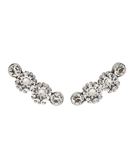 Isabel Marant - Metallic Silver Leaf Earrings - Lyst