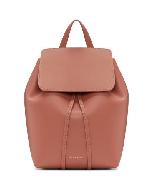 Mansur Gavriel - Multicolor Pink Leather Mini Backpack - Lyst