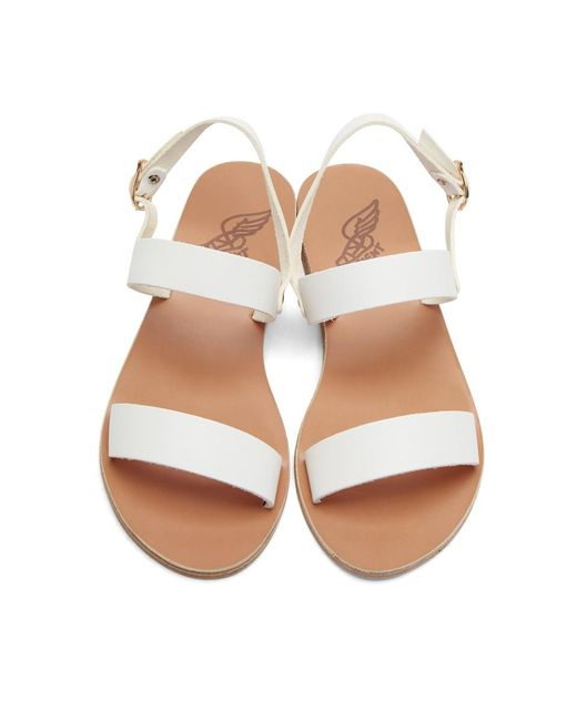 64574c8ac92e4 Lyst - Ancient Greek Sandals White Leather Clio Sandals in White