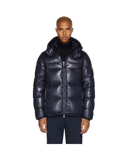 Moncler | Blue Navy Down Harry Jacket for Men | Lyst
