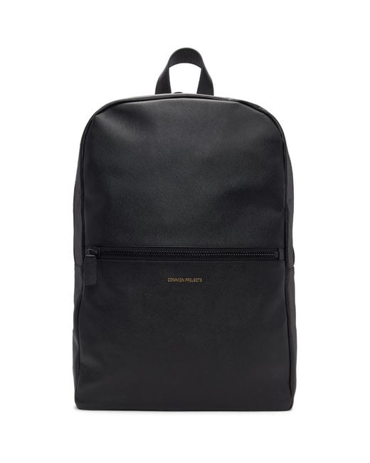 Common Projects Black Saffiano Simple Backpack in Black for Men - Lyst 762ded5e11692