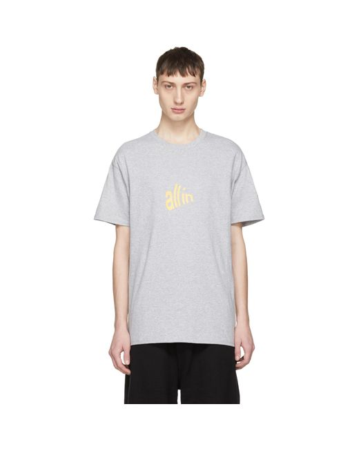 all in | Gray Grey Champion Edition Signal T-shirt for Men | Lyst
