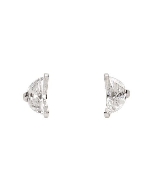 Maison Margiela - White Gold Split Solitaire Earrings - Lyst