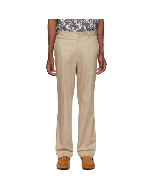 Brioni - Natural Beige Chino Trousers for Men - Lyst