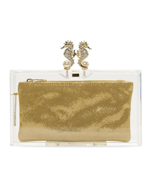 Charlotte Olympia - Metallic Transparent Perspex Pandora Seahorse Clutch - Lyst