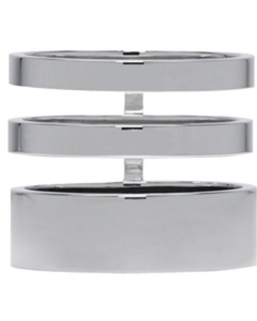 Repossi | Black White Gold Triple Band Berbere Ring | Lyst