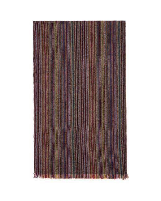 Paul Smith - Multicolor Mulitcolor Striped Herringbone Scarf for Men - Lyst