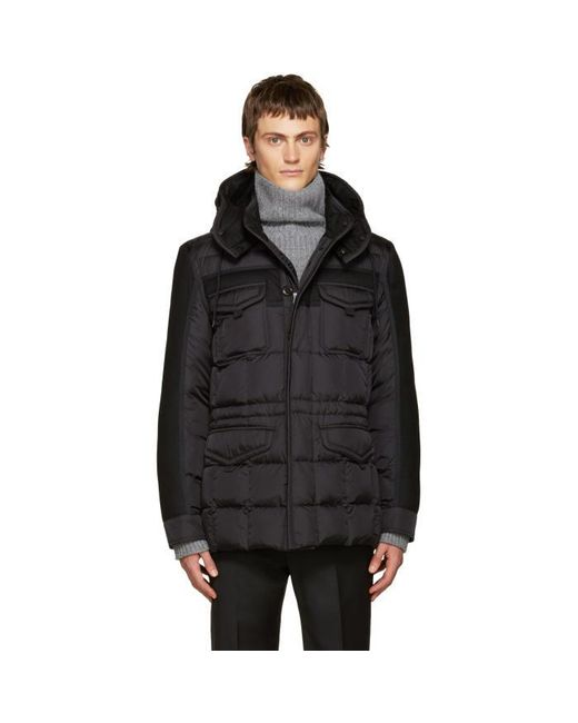 Moncler | Black Down Jacob Jacket for Men | Lyst