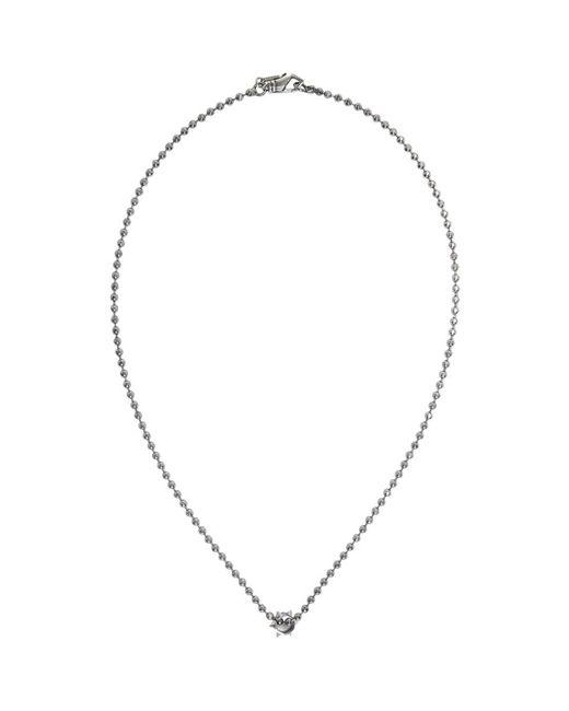 Emanuele Bicocchi - Metallic Silver Disco Chain Charm Necklace for Men - Lyst