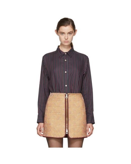 Isabel Marant | Blue Burgundy & Navy Striped Manray Shirt | Lyst