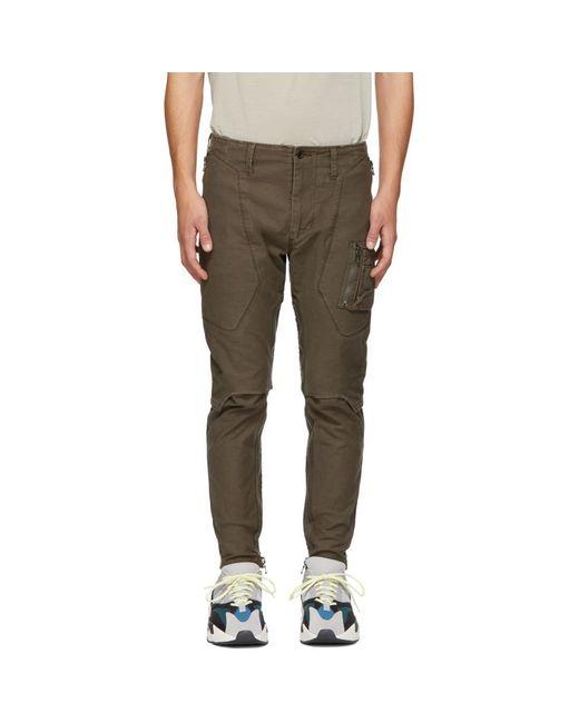 Julius - Multicolor Khaki Stretch Back Cargo Pants for Men - Lyst