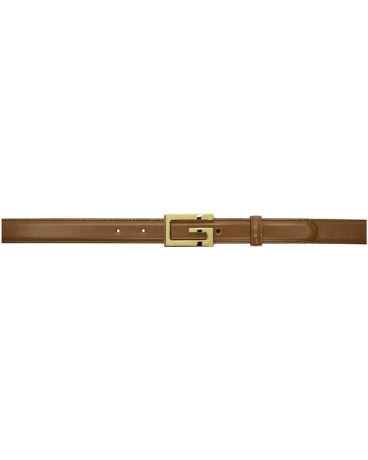 1654b21ea Gucci Brown G Belt in Brown for Men - Lyst