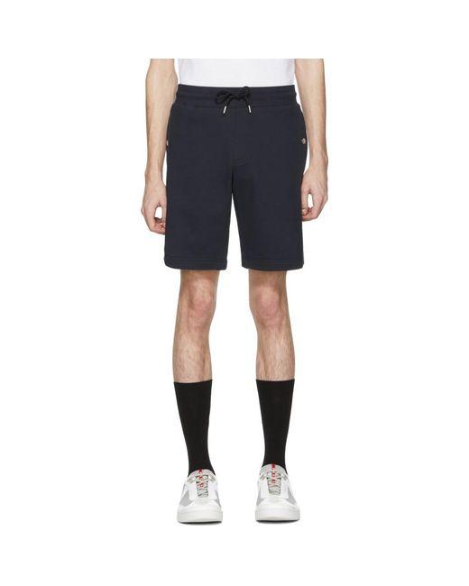 Moncler - Blue Navy Sweat Shorts for Men - Lyst